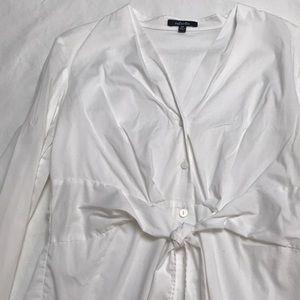 Rafaella white button up blouse